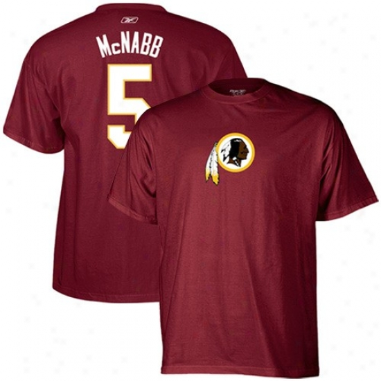 Redskin Tshirts : Reebok Redskin #5 Donovan Mcnabb Burgundy Scrimmage G3ar Tshirts