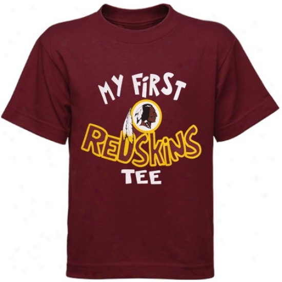 Redskin Tshirts : Reebok Redskin Infant Burgundy My First Redskins Tshirts Tshirts