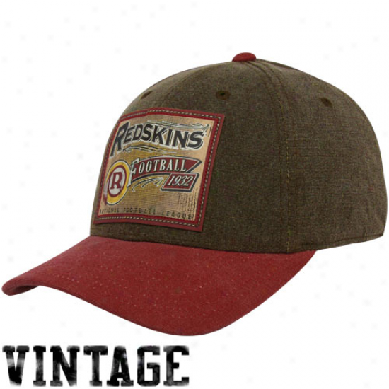 Redskins Cap : Reebok Redskins Brown Pro Shape Flex Cap