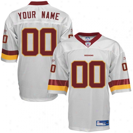 Redskins Jerseys : Reebok Nfl Equipment Redskins White Authentic Customized Jerse6s