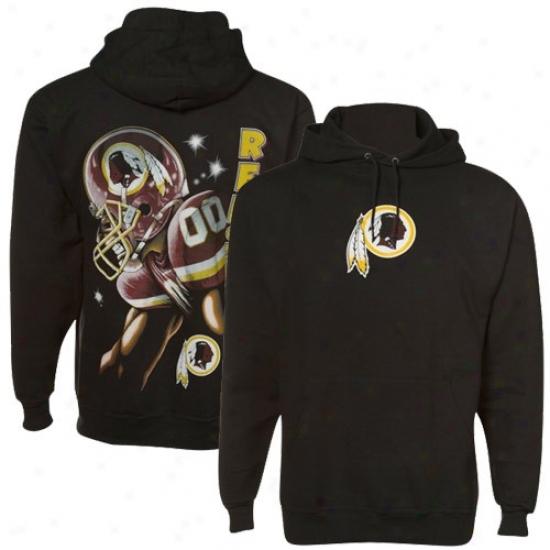 Redskins Sweatshirts : Redskins Black Game Face Sweatshirts
