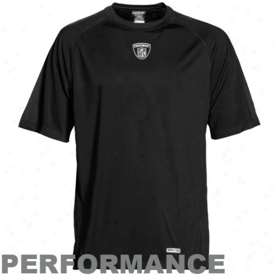 Redskins T Shirt : Reeblk Nfl Equipment Black  Speedwick Loose Performance T Shirt