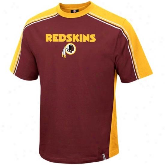 Redskins T Shirt : Reebok Redskins Budgundy Upgrade T Shirt