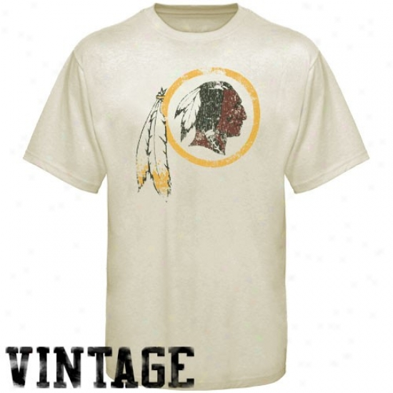 Redskins Tee : Reebok Redskins Youth Cream Main Identity Vintage Tee