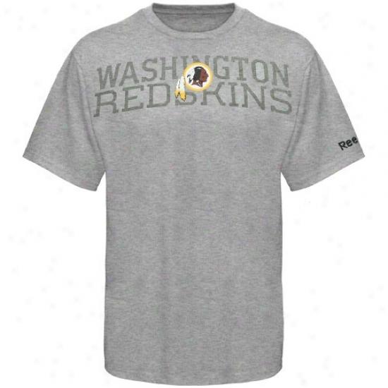 Redskins Tshirt : Reebok Redskins Youth Ash Foundation Tshirt