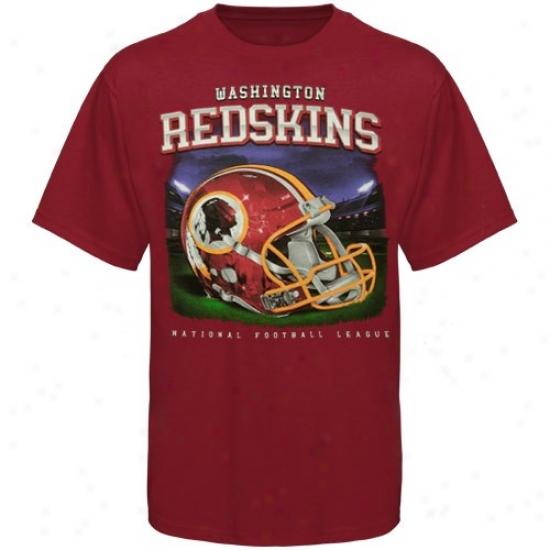 Redksns Tshirts : Reebok Redskins Youth Burgundy Reflection Tshirts