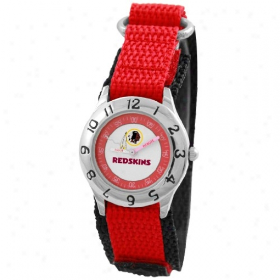 Redskins Wrist Watch : Redskins Youth Red Time Teacher Wrist Inspection