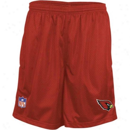 Reebok Arizona Cardinalw Cardinal Coavhes Mesh Shorts
