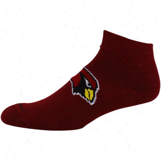 Reebok Arizona Cardinals Cardinal Jacquard Logo Ankle Socks