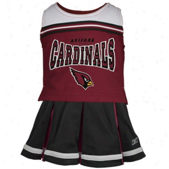Reebok Arizona Cardinals Preschool Cardinal Red 2-piece Cheerleader Set