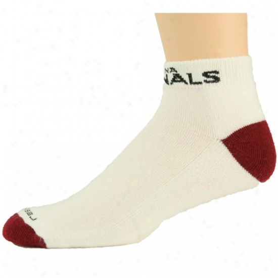 Reebok Arizona Cardinals White-red Low-cut Socks