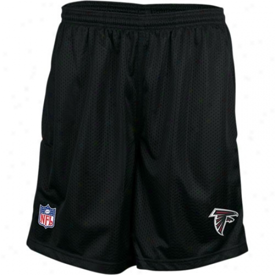 Reebok Atlanta Falcons Black Coaches Mesh Shorts