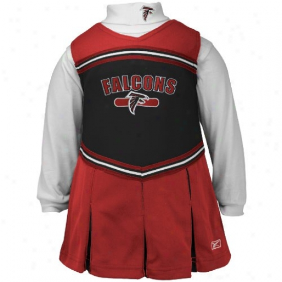 Reebok Atlanta Falcons Black Youth 2-piece Cheerleader Dress