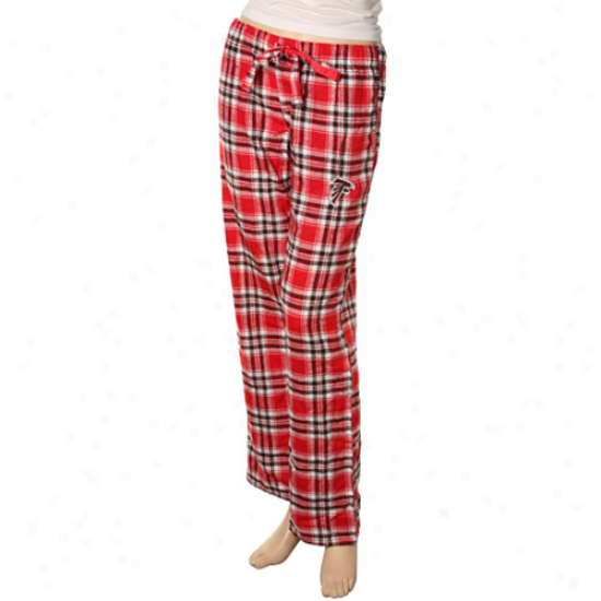 Reebok Atlanta Falcons Ladies Red Plaid Flannel Pajama Pants