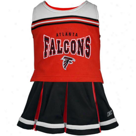 Reebok Atlanta Falcons Toddler Black 2-piece Cheerleader Set