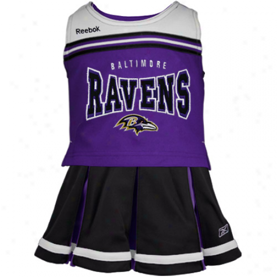 Reebok Baltimore Ravens Preschool Purple-black Cheerleader Set
