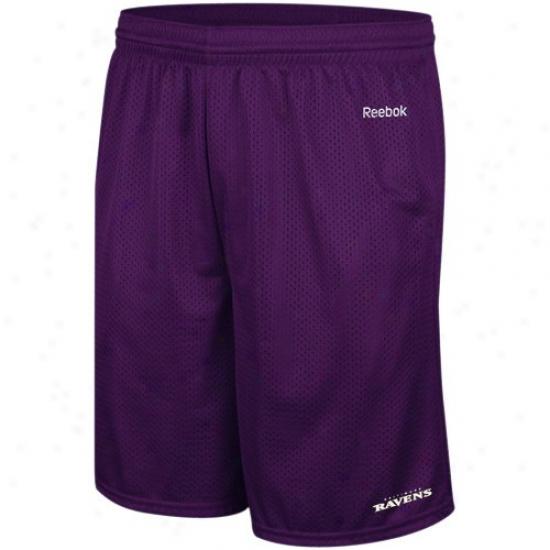 Reebok Baltimore Ravens Purple Johnson Mesh Shorts