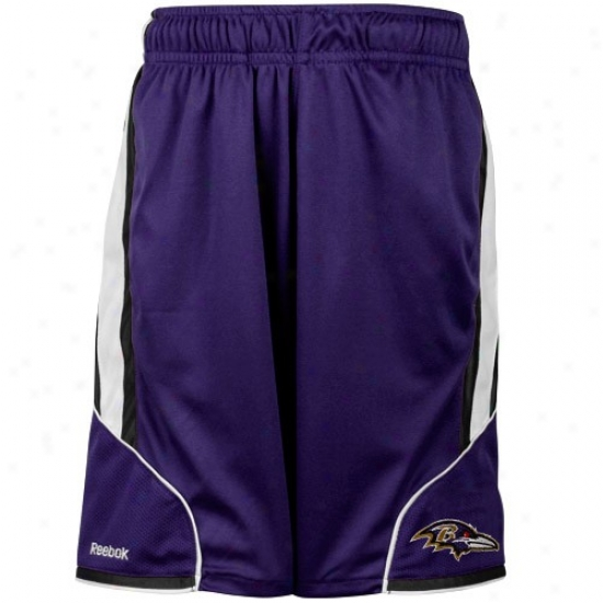 Reebok Baltimore Ravens Youth Purple The Thirty-five Mesh Shorts