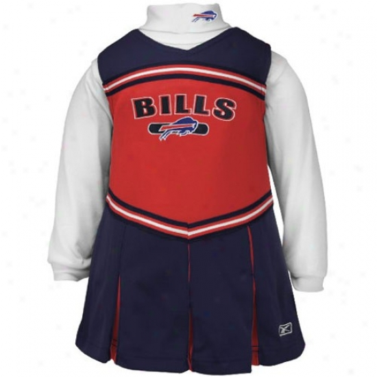 Reebok Buffalo Bills Infant Red 2-piece Cheerleader Dress
