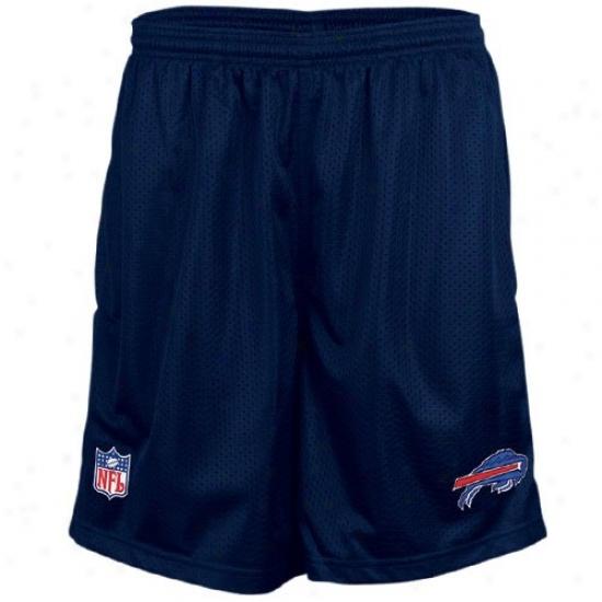 Reebok Buffalo Bills Navy Blue Coaches Mesh Shorts