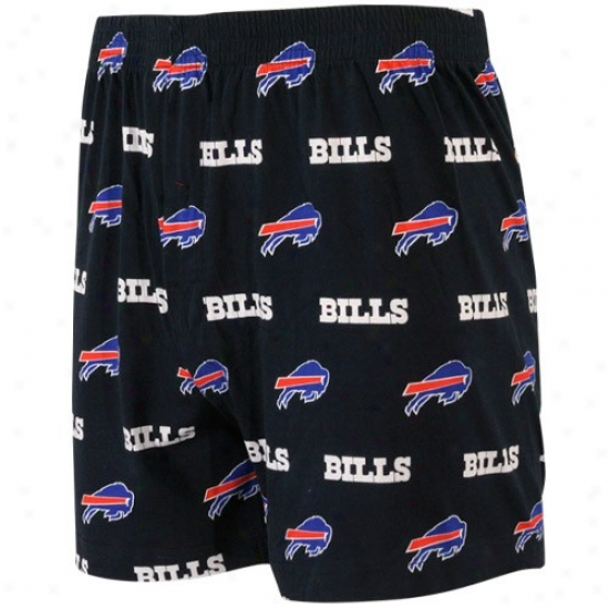 Reebok Buffalo Bills Navy Blue T2 All Over Print Boxer Shorts