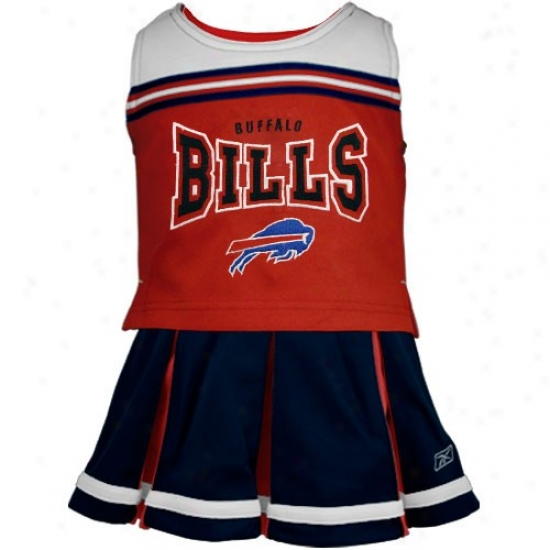 Reebok Buffalo Bills Preschool Red-navy Blue 2-piece Cheerleader Tank Top & Skirt