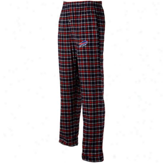 Reebok Buffalo Bills Red-navy Blue Plaid Match-up Flannel Pants