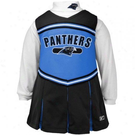 Reebok Carolina Panthers Babe Black 2-piece Cheerleader Dress