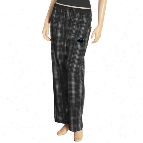 Reevok Carolina Panthers Ladies Blad Plaid Highland Pajama Pants