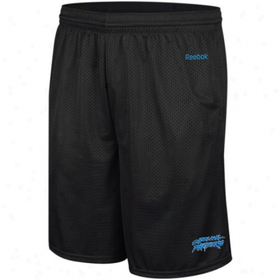 Reebok Carolina Panthers Ships Azure Johnson Mesh Shorts