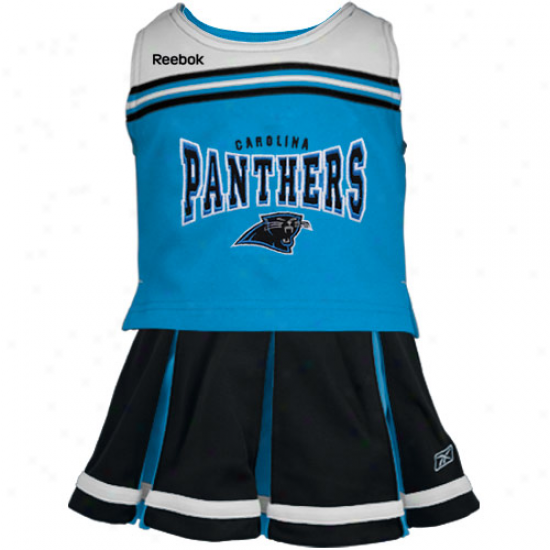 Reebok Carolina Panthers Toddler Black 2-piece Cheerleader Set