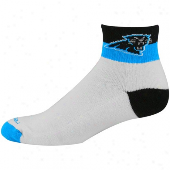Reebok Carolina Panthers Tri-color Ankle Socks