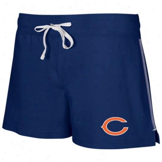 Reebok Chicago Bears Ladies Navy Blue Active Logo Shorts