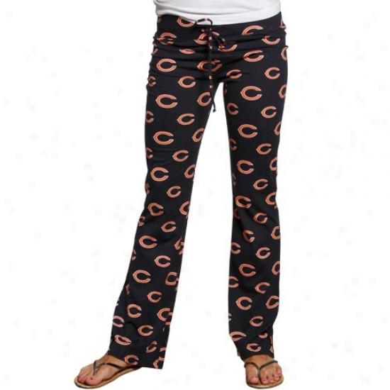 Reebok Chicago Bears Ladies Navy Blue Genesis Pajama Pants