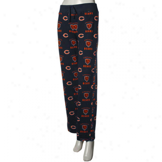 Reebok Chicago Bears Ladies Navy Blue Maverick Woven Pajama Pants