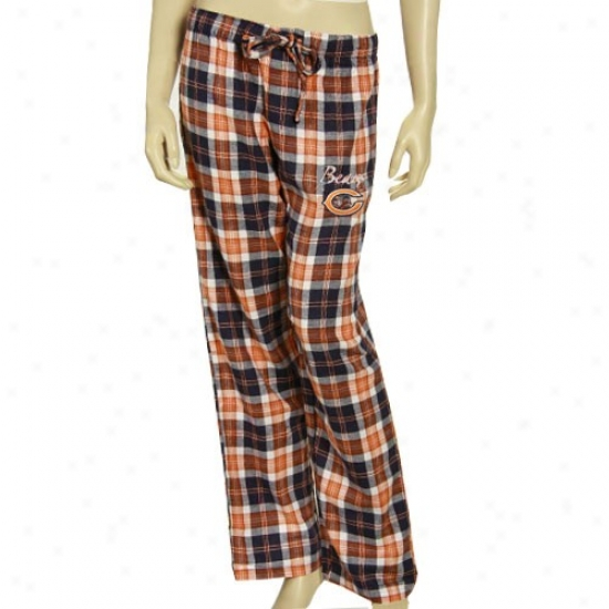 Reebok Chicago Bears Ladies Navy Blue Roll Call Plaid Pajama Pants