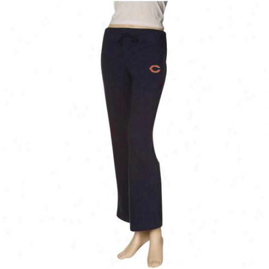 Reebok Chicago Bears Ladies Navy Blue Tsam Logo Stretch Fleece Pants