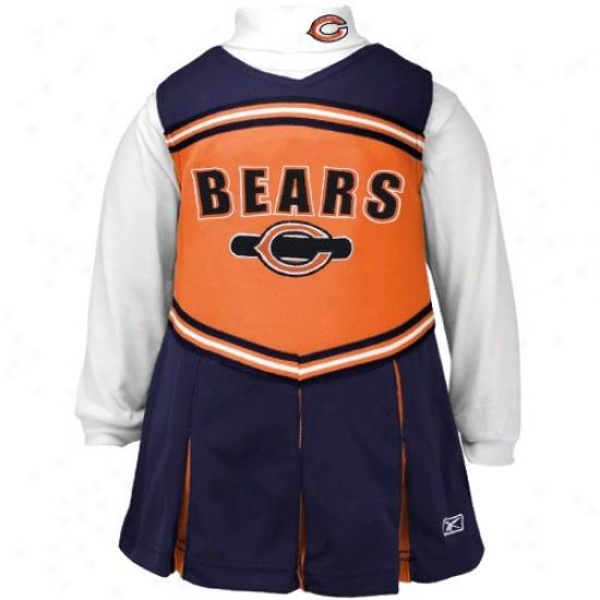 Reebok Chicago Bears Navy Blue Infant 2-piece Cheerleader Dress