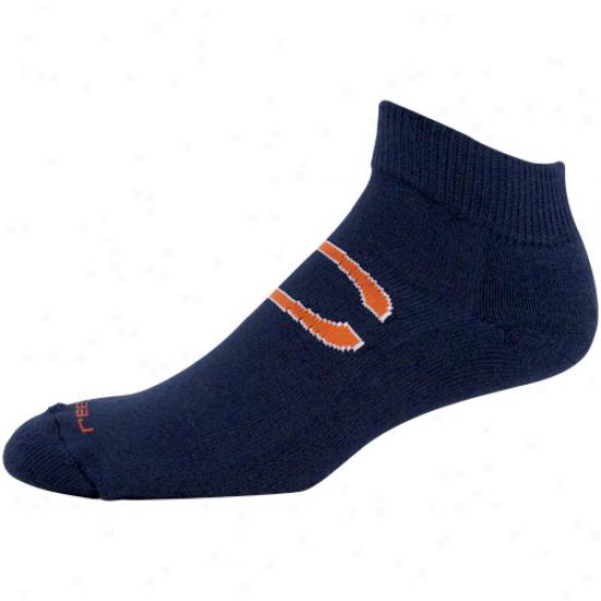 Reebok Chicago Bears Navy Blue Jacquard Logo Ankle Socks