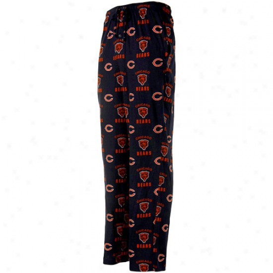 Reebok Chicago Bears Navy Blue Maverick Woven Pajama Pants