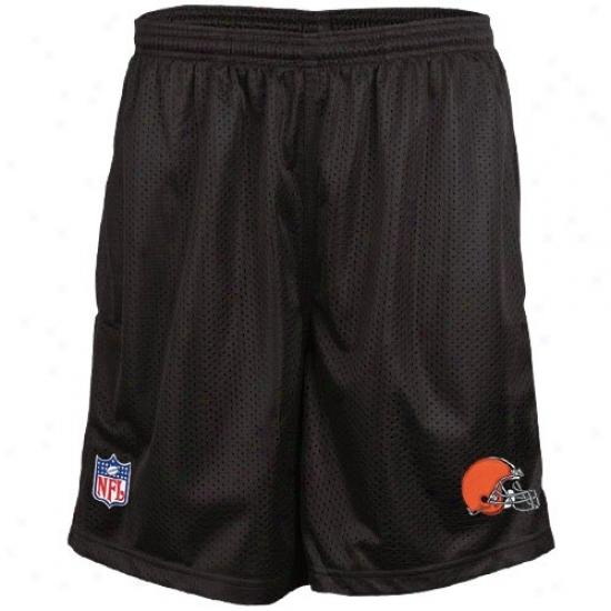 Reebok Cleveland Browns Brown Coaches Mwsh Shorts