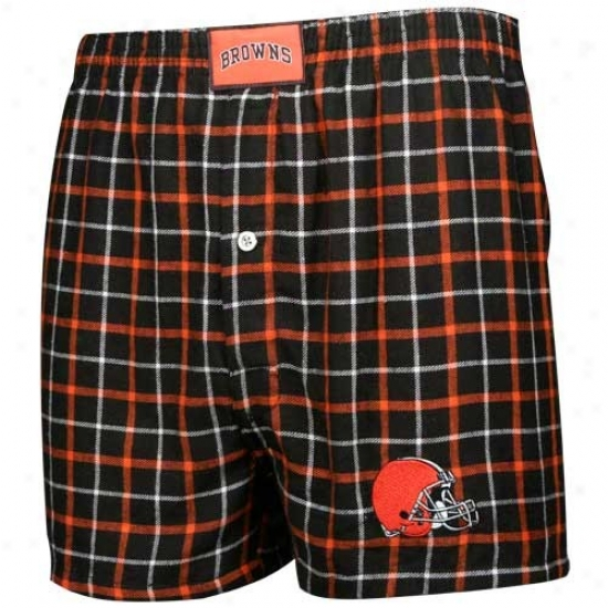 Reebok Cleveland Browns Brown Grodiron Boxer Shorts