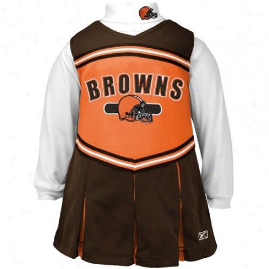 Reebok Cleveland Browns Brown Youth 2-piece Cheerleader Dress