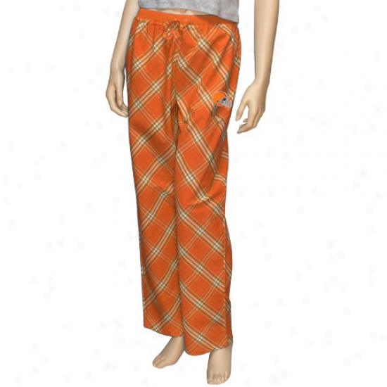 Reebok Cleveland Browns Ladies Orange Kona Pajama Pants