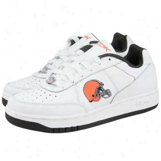 Reebok Cleveland Browns White Recline Sneakers