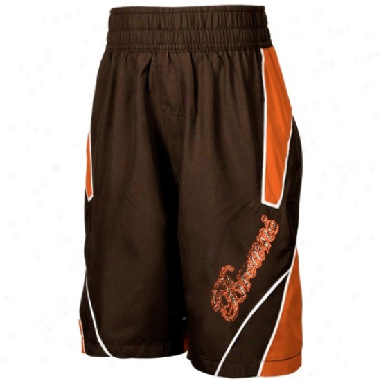 Reebok Cleveland Browns Youth Brown Axel Boardshorts