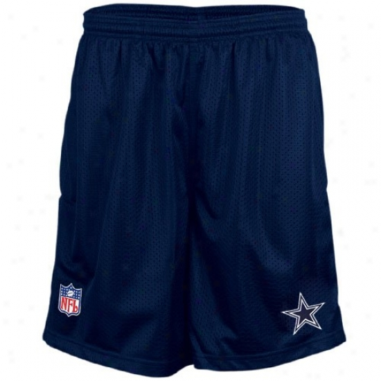 Reebok Dallas Cowboys Navy Blue Coaches Mesh Shorts