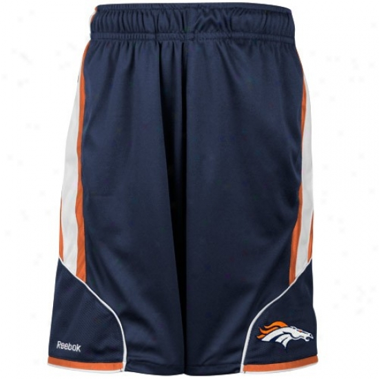 Reebok Denver Broncos Preschool Navy Blue The Thirty-five Mesh Shorts
