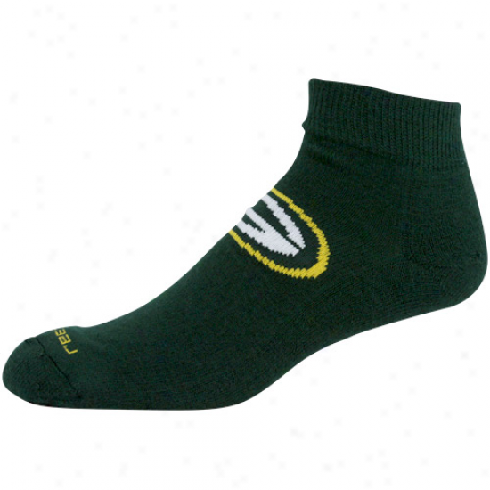 Reebok Green Bay Packers Green Jacquard Logo Ankle Socks