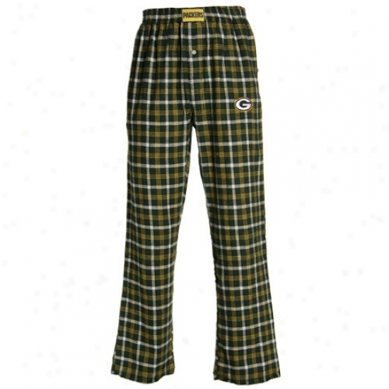 Reebok Green Bay Packers Green Tailgate Pajama Pants